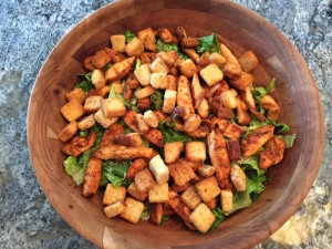 Grilled Chicken Ceasar Salad with Barbeque Seasoning