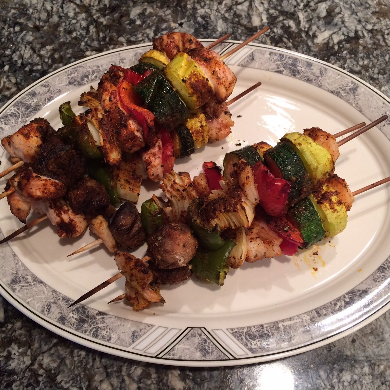 Chicken and Shrimp Shish Kabobs (2)